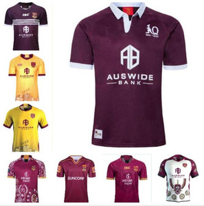 2020 Ulusal Rugby League Queensland 18 19 20 QLD Maroons Malou Rugby Jersey 2021 QLD Maroons Menşei Devleti Rugby Jersey Mens S - 3XL