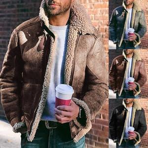 Freies Verschiffen, Winter-Schaf-Pelz-Mantel, klassische 2020 Wolle Shearling, warme Lederjacke, Mensschaffell Coat.plus Größen Jacken