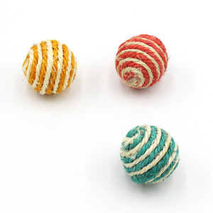 El gato de juguete de bolas de tejer Mascotas Gatos sisal bolas Circular alimentos para mascotas de múltiples opciones de color de la venta caliente 0 6mya J2