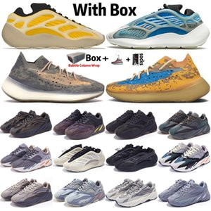 2020 Kanye West Azarath Srphym 700 V3 para hombre de las mujeres de los zapatos corrientes del Hospital azul inercia azufre Asriel V2 azul de avena extranjeros 380 Formadores las zapatillas de deporte
