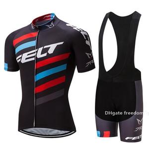 2020 Hottest Nuova Hottest Felt Pro Cycling Jersey della bici breve Set Mtb Ropa Ciclismo Pro Cycling Wear Mens Bicicletta Maillot Culotte