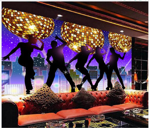Custom photo wallpapers 3d murals wallpapers Fashion Bar KTV disco dream ballroom nightclub tooling background wall papers home decoration