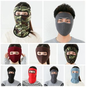2 In 1 Full Face Mask Winter Masks Men Women Outdoor Ski Facial Cover Earmuffs Cycling Motorcycle Warm Windproof Washable Masks LJJP770