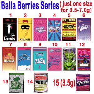 Vacío 3.5G / 7.0G BALLA BAJAS Bolsas de embalaje Cannolis Bubble Yum Razzles PROPANE ZAZA BALLA RUNTZ SLUSHIES Presión Thkax Mylar Bolsa