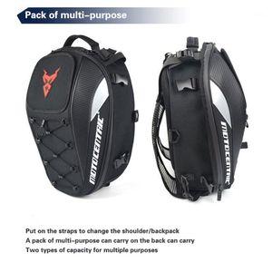 Черный мужской мотоцикл мешок водонепроницаемый мотоцикл рюкзак туристический багажник сумка мотоцикл сумки mochila moto1