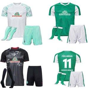 2020 2021 SV Werder Bremen Tercero fútbol Jerseys 20 21 Friedl Klaassen Selke Rashica Bartels Werder Bremen Homemen's + Socks Traje