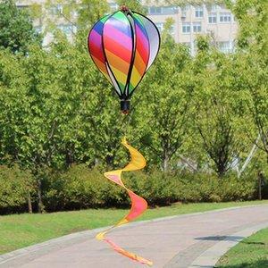 الهواء الساخن بالون سبينر الرياح الرياح في الهواء الطلق شنقا rainbow الهواء الساخن بالون تدوير الرياح الريغ حديقة حزب المنزل الديكور 1