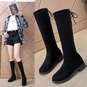 Lady Boots Flat Heel Round Toe Winter Shoes For Women Luxury Designer Sexy Thigh High Heels High Sexy Boots-women1