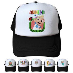 Kids Adult Cocomelon Mesh Caps Unisex Summer Cartoon Snapback Sun Visor Sport Beach Hats Designer Print Pigtail Cap Headwear 2021 LY10293