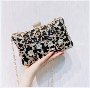 HBP Golden Diamond Clutch Evening Bags Chic Pearl Round Shoulder Bags For Women 2020 New Luxury Handbags Wedding Party Clutch Purse 05O