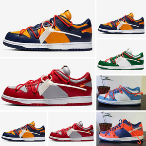 Dunk Low LTHR OW Top Man qualidade sapatos Raygun Tie-Dye Black What The Causal Shoes Raygun Tie-Dye Branca Tamanho 36-45