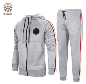 MINDYGOO high quality wholesale OEM custom logo factory low moq running gym fitness mens sports workout tracksuit
