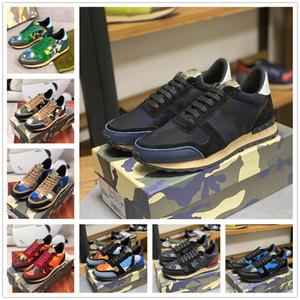 Combo Stelle Rivetta Camouflage Borning Trainer Appartamenti da donna Mens Scarpe casual Camo Sneakers in pelle scamosciata Camo Sneakers Rockrunner Dress Shoes 36-45 #