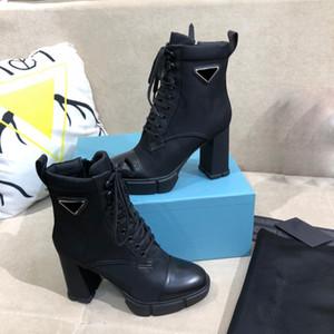 2020 En Yeni Son Kar Bilek Boots Desert Boot tıknaz topuk bayan bot% 100 Gerçek Deri Kış Ayakkabı Martin Boot'un 5 cm 9.5cm Boyut 35-41