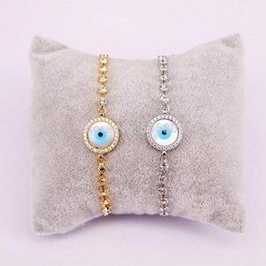 10pcs Zyunz Bijoux Shell Charm rond Micro Pave Zircon Eye Shell Bracelet pour femme Homme Ajustable Link Chain Bracelets Bracelets1