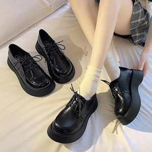 Thick-soled Uniform Women's Shoes 2020 Autumn Fashion Small Single Shoes Women High Heels #Xf5j