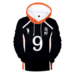 Anime Haikyuu Karasuno Cosplay Costume 3D Print Oversized Mens Hoodies Sweatshirts Streetwear Hip Hop Hooded Jacket Male Tracksuit