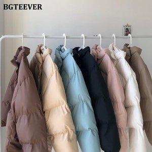 BGTEEVER Fashion Stand Collar Thicken Warm Women Parkas 2020 Winter Coats Full Sleeve Zipper Up Loose Female Down Jackets