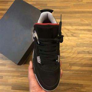 4 zapatos de baloncesto del Mens Negro Rojo Fuego cemento gris 4s IV Bred deporte de la manera de las mujeres zapatillas de deporte