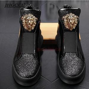 Neuer Markendesigner Hochwertiges Leder Loafer Männer Schuh mit dicker niedriger Niete, beiläufigem Brett mit hohen Höhe zapatos sapatos