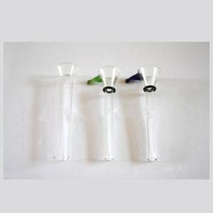 Glas männliche Rutsche und weibliche Stammrutsche Trichterstil mit schwarzem Gummi Einfache Dazemaschine für Glasbongs Wasserleitungen Kostenloses Handtuch 273 G2