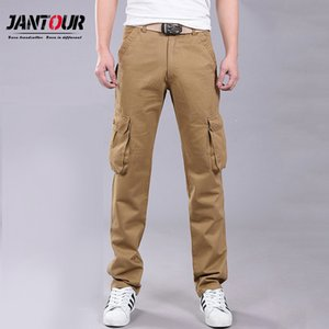 Overalls Full-Length Multi-Pockets Plus Size Trousers Cotton Loose Cargo Tooling Tactical Styles Men Casual Trousers C1018