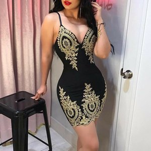 Hirigin new women, new women, new sime form Fronde spaghetti moulate lace noodles for ladies evening mini skirt S-XL collar V
