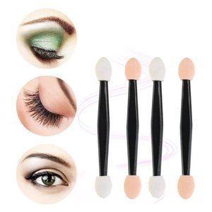 30 50 100 Pcs Disposable Eyeshadow Brush Dual Sided Sponge Nylon Sets Make Up Eye Shadow Brushes For Cosmetic Applicator Makeup jllglt