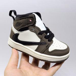 2020 Baby Infant Top Travis Scott Basketball Shoe Children 1s High OG kids Jacks 1S Sneaker Sports Trainer Toddler shoes