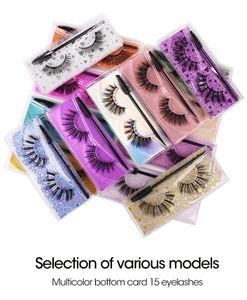 Best Selling Imitated Mink eyelashes Different styles 3D False Eyelashes Soft Natural Thick Fake Eyelash 3D Eye Lashes mink false eyelash
