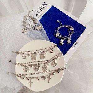 Korean version ins net Red Hip Hop dark girl simple cool style hand decoration fashion niche Design bracelet