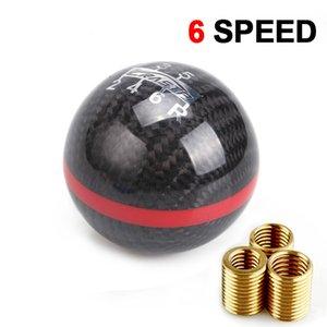 Universal Carbon Fiber 5   6 Speed Manual Automatic Spherical Gear Shift Knob for Honda Acura Car Shift Knob RS-SFN067