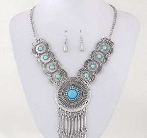 Accessories Earrings For Jewelry Fine Part Circle Bridal Necklace Pendant Women Sets Wedding wmtOK dh_garden