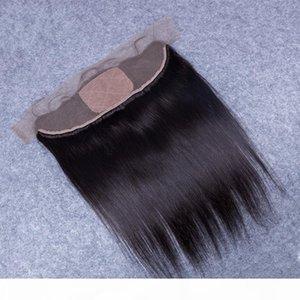 Günstige brasilianisches Haar-Silk Frontal Closure seidige gerade Silk Base-Spitze-Stirn Closure 13x4 Mit Baby-Haar-Silk oberste volle Spitze-Stirn