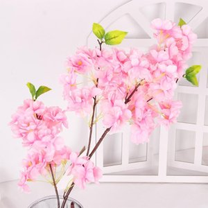 4 Branches Artificial Sakura Cherry Blossom Flower Silk Fake Flowers Wedding Home Decoration Diy Party Decor Faux Flowers Branch