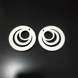 Two Sided Hollowing Out Earrings Circle Sublimation Blank Jewelry Ear Pendants Woodiness Originality Stud Earring Fashion 2 25bd F2