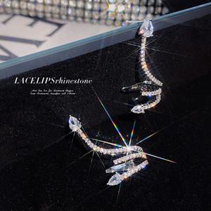 2020 Moda Niche Diseño Sentido Serpentine Pendientes Zircon Pendientes Ear Bone Clip Light Luxury Integrated Ear Clip Pendientes Mujeres