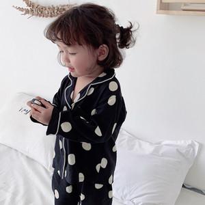 Girls Pajamas 2020 Spring Long Sleeve Children's Sleepwear Set Silk Pajamas Suit Boys Pyjamas Sets for Kids Tracksuit Set