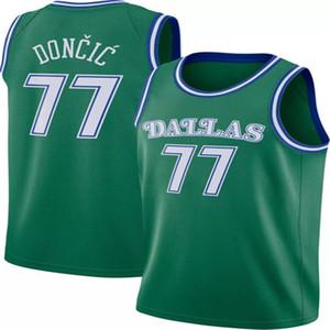 NCAA 77 루카 Doncic 대학 농구 유니폼 6 Kristaps Porzingis 41 Dirk Nowitzki 100 % 스티치 2019 New