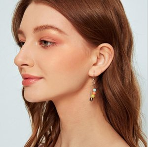 safety pin earring christmas new design jewelry for women lady gift Gold filled simple multi piercing earring