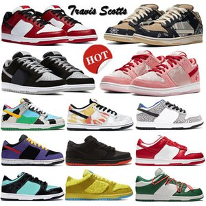 Nouvelle Shadow TRD QS Chunky Dunky Plate-forme Dunky Bas Skateboard Sean Chicago Travis Scotts University Femmes Red Femmes Femmes Running Sports Sports Sports