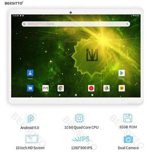 New Design 10 inch Tablet PC Android 9.0 Ultra Slim 2GB RAM 32GB ROM Quad Core 5.0MP Dual Camera WiFi Bluetooth Tablets 10.1