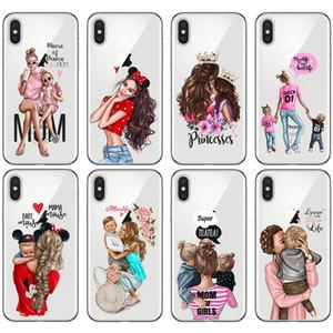 아이폰 (12) 패션 소녀 트렌드 어머니 가족 전화 케이스 아이폰 (12) (11) 미니 프로 맥스 쉘 휴대 Moblie 전화 케이스 커버