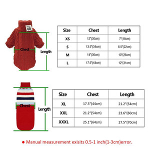 Pet Dog Clothes For Small Medium Large Dogs Turtleneck Sweater Winter Warm Knitted Dog Coat Jackets Pet Clothing bbyAxU