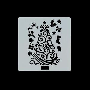 7pcs Christmas Drawing Stencil For Painting Santa Claus Snowman Deer Hollow Pet Mold Diy Kids Toys Reusable Graffiti Template jllkzS