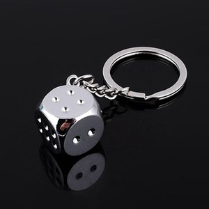 Free DHL HOT keychains Super Deal New Creative Key Chain Metal Genuine Personality Dice Alloy Keychain For Car Key Ring Trinket EEF4239