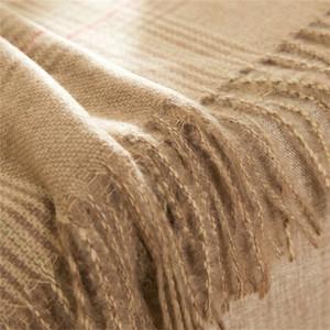Pliktea outono inverno homens merino lã lenço cachecol quente poncho fêmea cashmere stole mulheres xaile senhora moda pashmina y201007