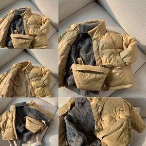 Onz ew Winter Children Down down jacket child girl Jacket Toddler Boys Baby Girls Thicken Real Fur Collar Outerwear Kids
