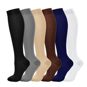 Solid Color man Long Socks Varicose Vein Leg Relief Pain Knee Socks Pressure Compression Stockings Unisex Thin High Nylon