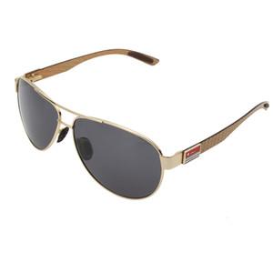 سائق خمر الرجال الاستقطاب من ألياف الكربون معدن العلامة التجارية الذاكرة نظارات شمسية نسائية هلالية GAFA 8111y